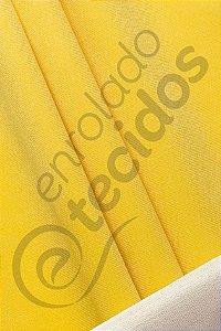Tecido Suede Veludo Liso Amarelo Ouro 1,45m de Largura