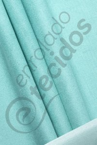 Tecido Suede Veludo Liso Azul Tiffany 1,45m de Largura