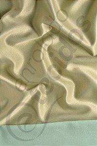 Tecido Jacquard Dourado e Turquesa Liso 2,80m de Largura