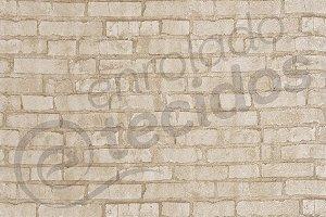 Tecido Jacquard Estampado Parede Tijolos Canjiquinha (desenho sentido largura) 2,80m de Largura