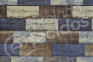 Tecido Jacquard Estampado Madeira Demolição (desenho sentido largura) 2,80m de Largura