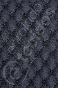 Tecido Jacquard Estampado Capitonê Cinza Escuro 1,40m de Largura