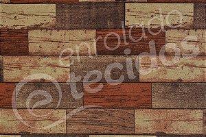 Tecido Jacquard Estampado Madeira Tradicional (desenho sentido largura) 2,80m de Largura