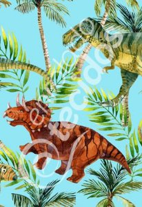 Tecido Party Decor Dinossauros 1,50m de Largura