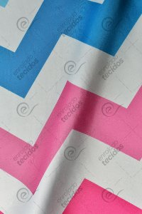 Tecido Party Decor Chevron Colorido 1,50m de Largura
