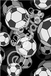 Tecido Party Decor Bola Futebol 1,50m de Largura