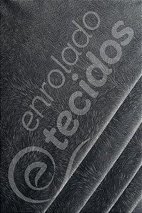 Tecido Suede Pena Burnout Cinza 1,40m de Largura