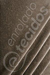 Tecido Suede Pena Burnout Bege Capuccino 1,40m de Largura