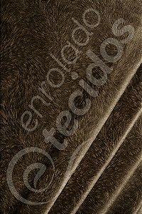 Tecido Suede Pena Burnout Marrom 1,40m de Largura