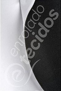 Neoplex tipo Neoprene 2,0mm Branco e Preto (sublimação) 1,4m de Largura