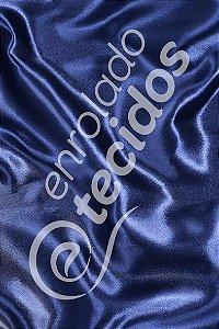 Tecido Cetim Azul Marinho 1,50m de Largura