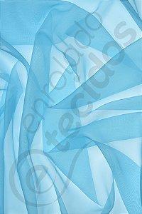 Tecido Voil Azul Bebê 3,0m de Largura