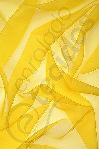 Tecido Voil Amarelo Ouro 3,0m de Largura