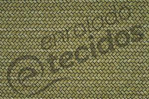 Tecido Jacquard Estampado Palha Entrelaçada Verde (desenho sentido largura) 2,80m de Largura