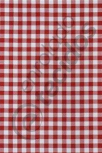 Tecido Oxford Xadrez Vermelho e Branco 1,50m de Largura
