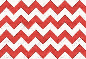 Tecido Jacquard Fio Tinto Chevron Vermelho (desenho sentido largura) 2,80m de Largura