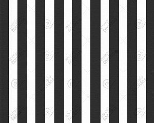 Tecido Jacquard Fio Tinto Listrado Preto (desenho sentido largura) 2,80m de Largura