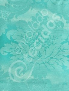 Tecido Jacquard Azul Tiffany Medalhão ou Listrado 2,80m de Largura