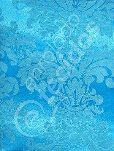 Tecido Jacquard Azul Frozen Medalhão ou Listrado 2,80m de Largura