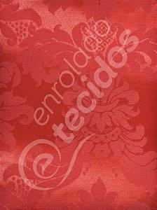 Tecido Jacquard Vermelho Medalhão ou Listrado 2,80m de Largura