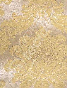 Tecido Jacquard Amarelo Medalhão ou Listrado 2,80m de Largura