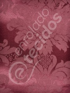 Tecido Jacquard Vinho Marsala Medalhão ou Listrado 2,80m de Largura