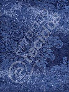 Tecido Jacquard Azul Marinho Medalhão ou Listrado 2,80m de Largura