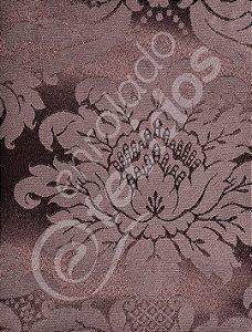 Tecido Jacquard Marrom Medalhão ou Listrado 2,80m de Largura