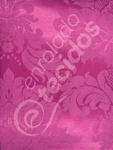 Tecido Jacquard Pink Medalhão ou Listrado 2,80m de Largura