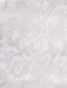 Tecido Jacquard Branco Gelo (Off-White) Medalhão ou Listrado 2,80m de Largura