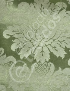 Tecido Jacquard Verde Pistache Medalhão ou Listrado 2,80m de Largura