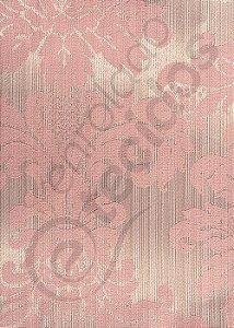 Tecido Jacquard Luxo Rosa Medalhão ou Listrado 2,80m de Largura
