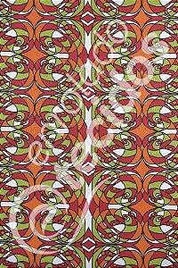 Tecido Jacquard Estampado Abstrato Laranja 1,40m de Largura