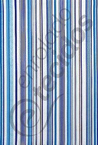 Tecido Jacquard Estampado Listrado Azul 1,40m de Largura