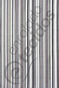 Tecido Jacquard Estampado Listrado Cinza 1,40m de Largura