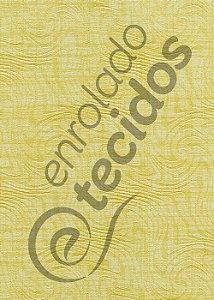 Tecido Jacquard Estampado Liso Amarelo 1,40m de Largura