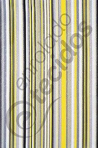 Tecido Jacquard Estampado Listrado Amarelo e Cinza 1,40m de Largura