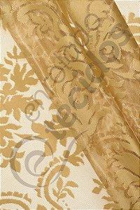 Renda Medalhão Dourado 3,0m de Largura