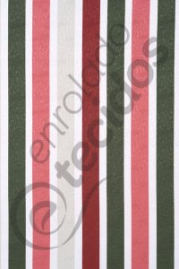 Tecido Jacquard Estampado Listrado Rosa e Verde 1,40m de Largura
