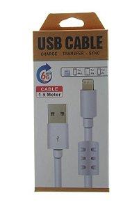 Cabo de Dados USB Carregador Para Celular Entrada V8 1,5M High Speed com Filtro de Linha