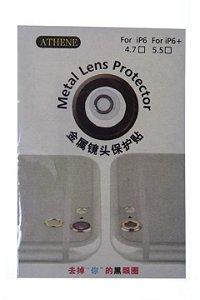 Aro em Metal para Proteção Lente Câmera Iphone 6-6 Plus na Cor Prata