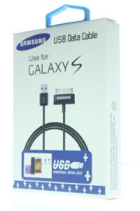 Cabo de Dados Samsung USB para Tablet 1ª Linha na Cor Preta na Caixinha