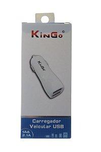 Carregador Veícular 2 USB Marca Kingo Para Celular