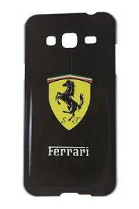 Capas para Celular Samsung Galaxy J3 SM-J320 Tpu Silicone Fundo Amarelo Estampa Ferrari