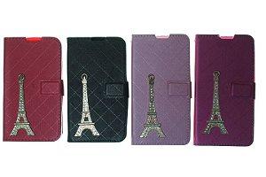 Capas Carteira para Celular LG L Prime II X170 Torre de Paris Cores Variadas