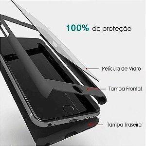 Capa 360º Frente e Verso com Película para iPhone 6 Plus Cores Diversas