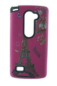 Capas para Celular LG Volt H422T Anti Impacto Cor Rosa Estampa Torre de Paris