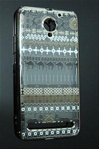 Capas para Celular Lenovo Vibe C2 Silicone Transparente Estampa Étinica-d