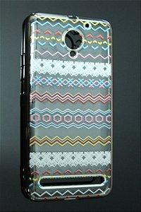 Capas para Celular Lenovo Vibe C2 Silicone Transparente Étinica-a