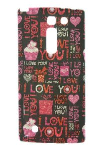 Capas para Celular LG Prime Plus H502 Tpu Silicone com Glitter Estampa I Love You